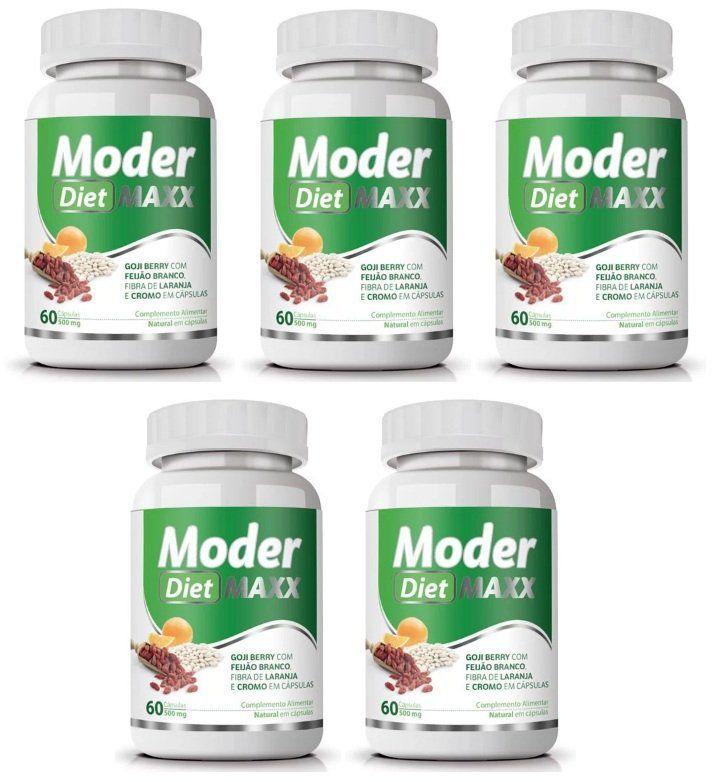 ModerMaxx Diet Original 500mg - 5 Potes (300 cáps.)
