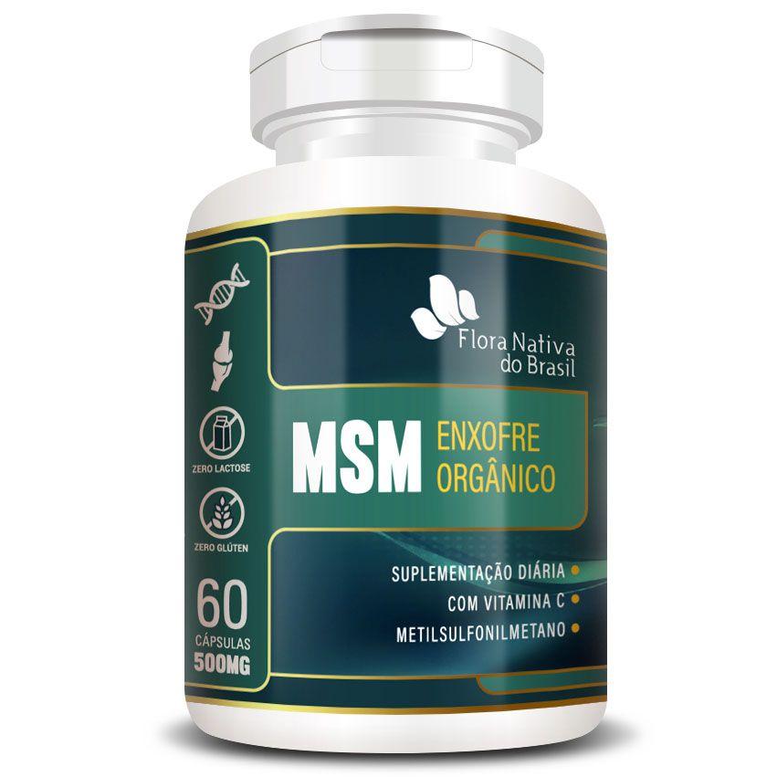 MSM Enxofre Orgânico Metilsulfonilmetano 500mg - 60 cápsulas