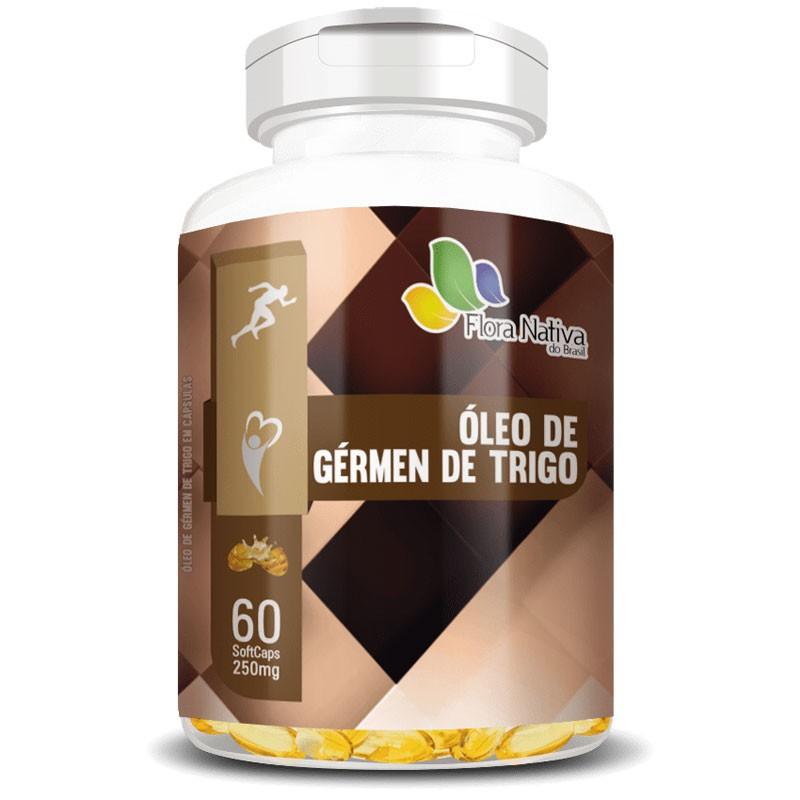 Óleo de Gérmen de Trigo 250mg - 100% Puro - 60 cápsulas