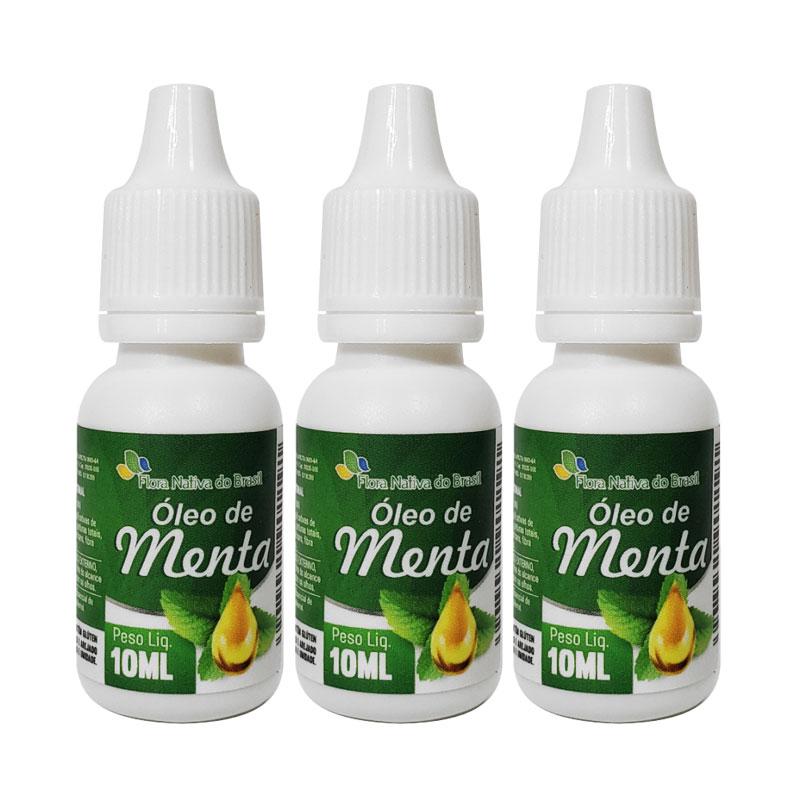 Óleo de Menta 10ml - 3 frascos