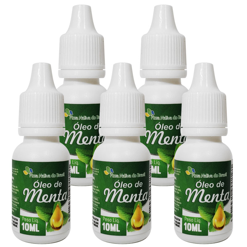 Óleo de Menta 10ml - 5 frascos
