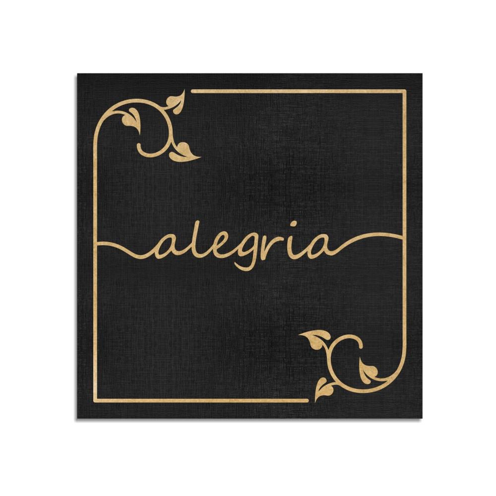 Quadro Decorativo Frase | Alegria - Sala, Quarto, Lavabo