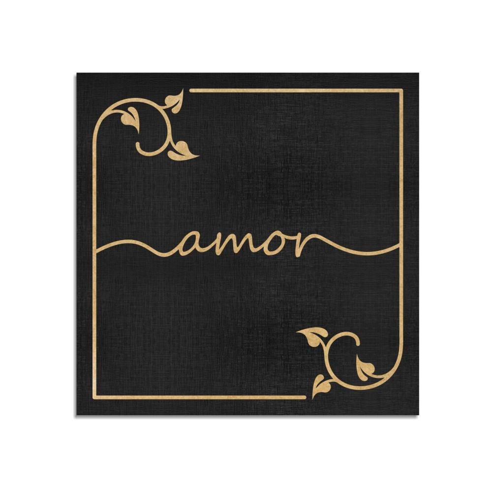 Quadro Decorativo Frase   Amor - Sala, Quarto, Lavabo