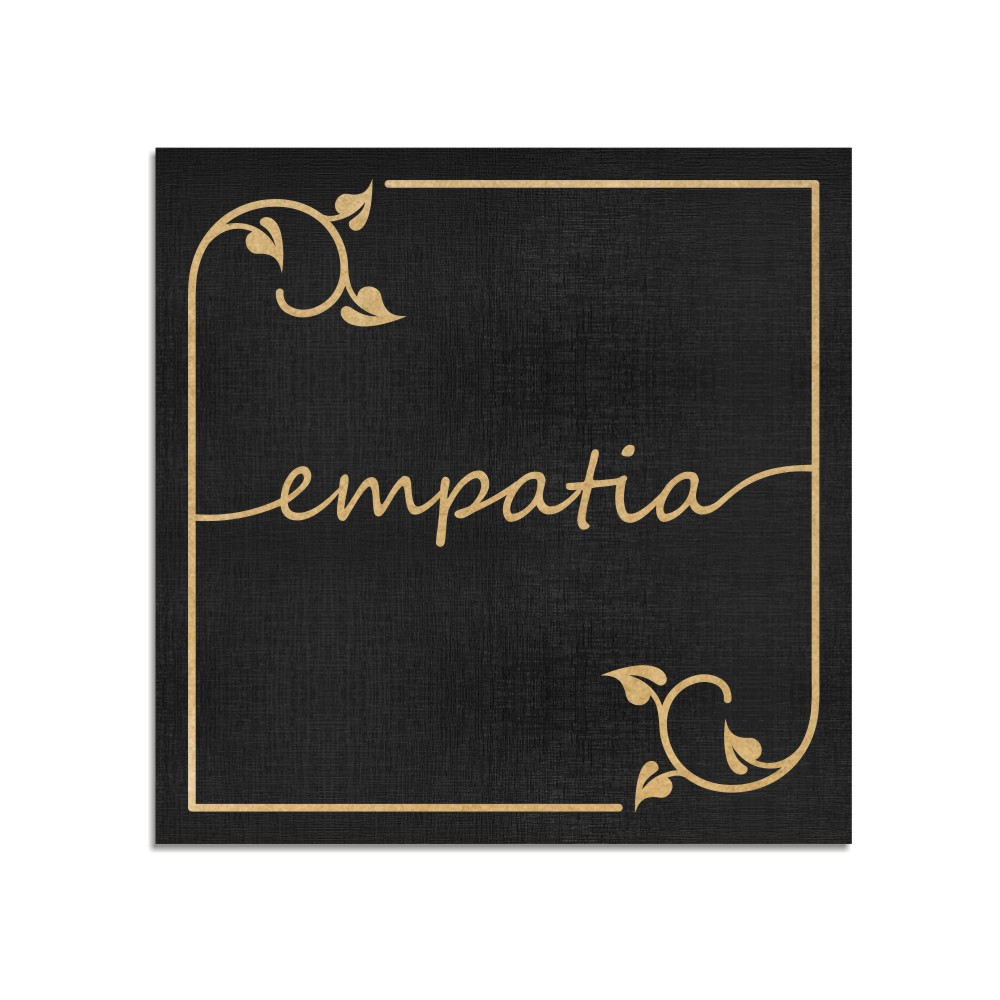 Quadro Decorativo Frase   Empatia - Sala, Quarto, Lavabo