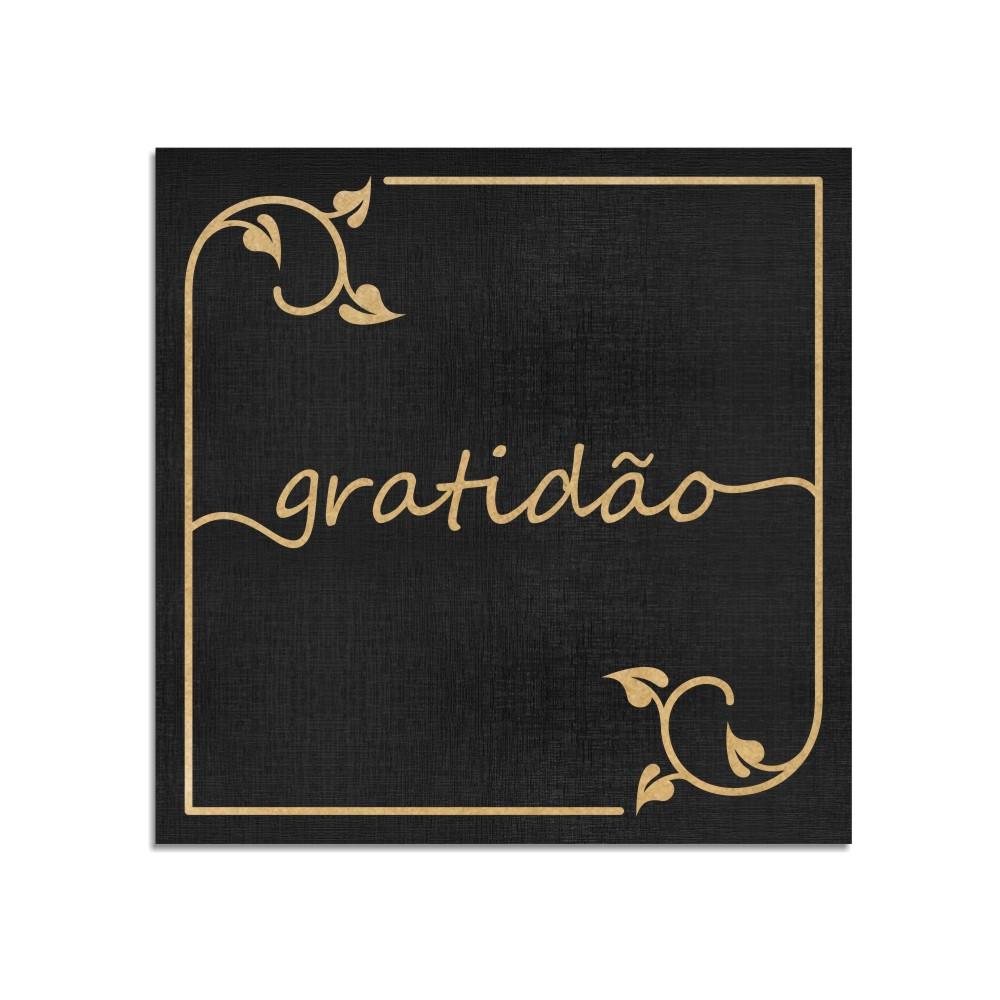 Quadro Decorativo Frase | Gratidão - Sala, Quarto, Lavabo