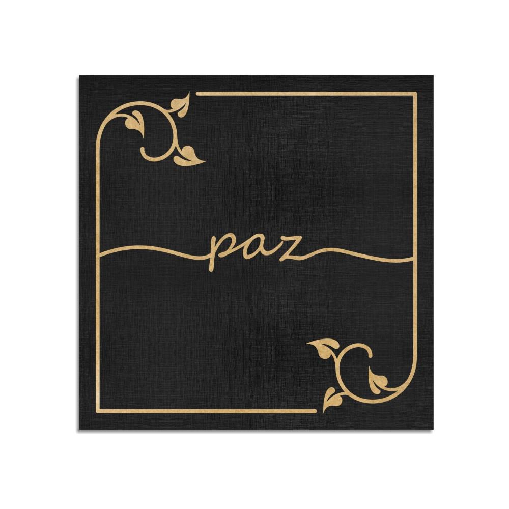 Quadro Decorativo Frase | Paz - Sala, Quarto, Lavabo