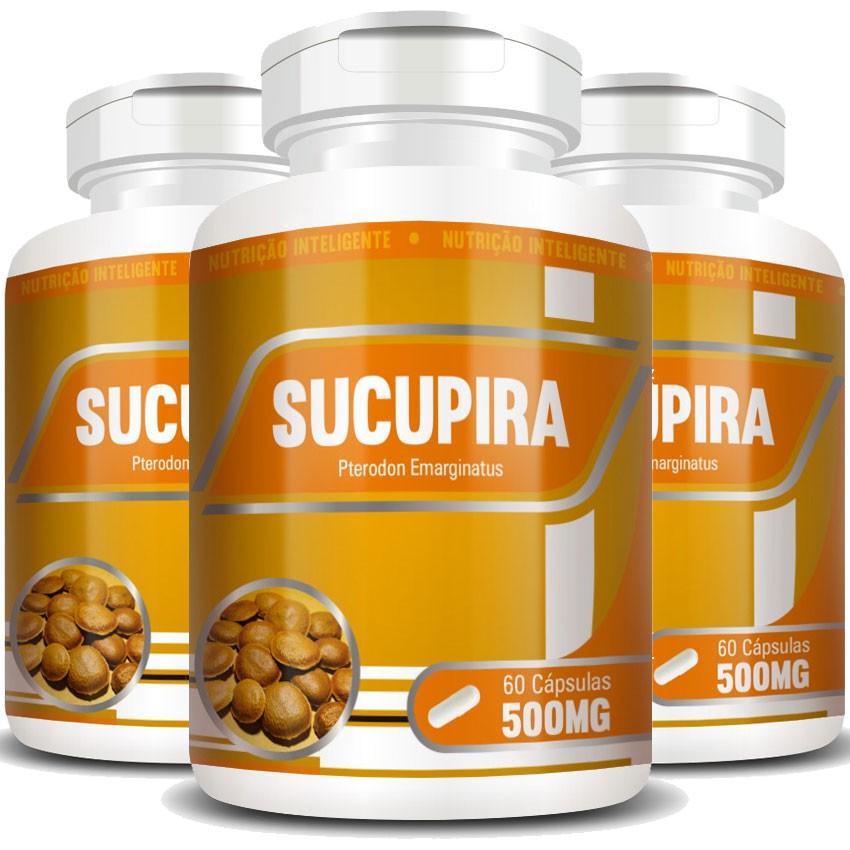 Sucupira - Original - 500mg - 03 Potes (180 cáps.)