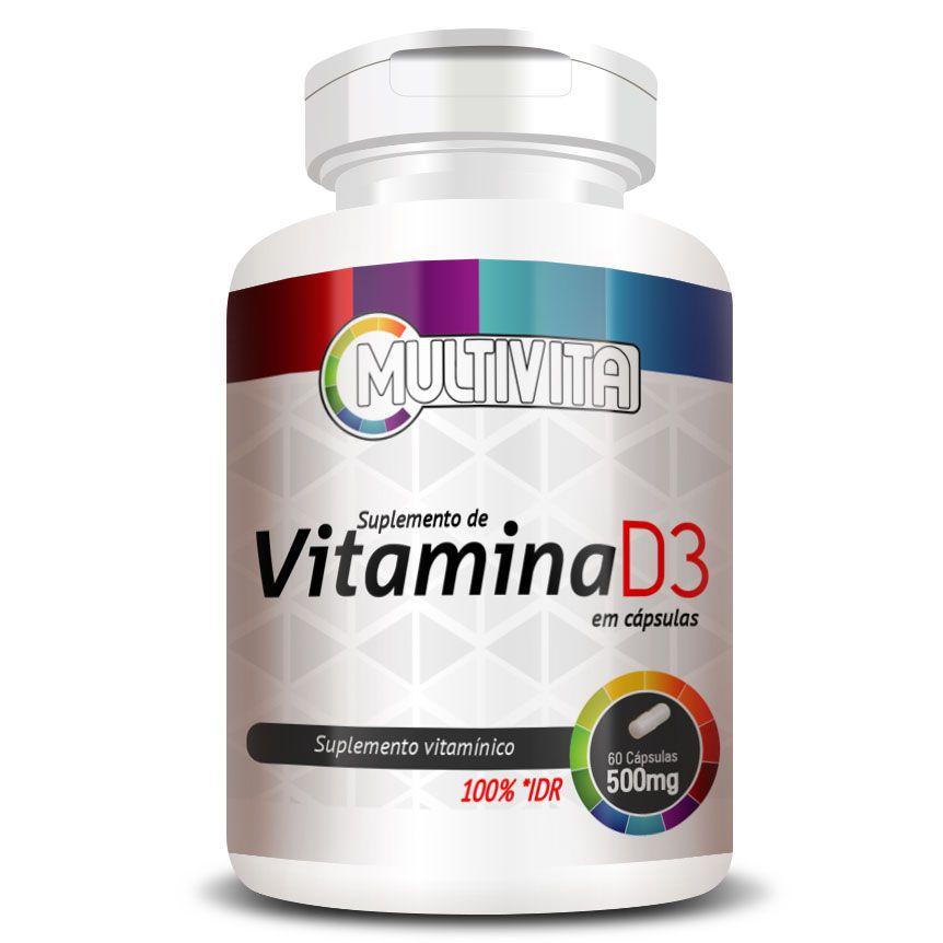 Vitamina D3 50mcg (2000UI) Colecalciferol - 1 Pote (60 Cáps.)