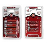 Pilha Recarregável Mox Kit 8 Pilhas Recarregáveis 4aa + 4aaa