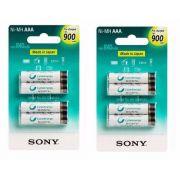 Kit de Pilhas Sony 8 AAA Palito 900 Mah Pilha Recarregável 1,2v