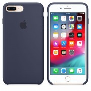 Capa de Silicone para IPhone 8 Plus 7 Plus Apple Logo Oficial