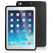 Capa Ipad Mini 4 Traseira de Silicone Preta Logo Apple