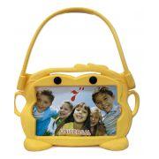 Capa Tablet 7 Suporte Veicular Universal Encosto Carro Infantil Bichinho Amarelo