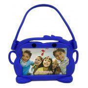 Capa Tablet 7 Suporte Veicular Universal Encosto Carro Infantil Bichinho Azul