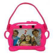 Capa Tablet 7 Suporte Veicular Universal Encosto Carro Infantil Bichinho Rosa