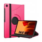 Capa Tablet Samsung Galaxy Tab A7 10.4 T500 T505 Giratória Executiva Rotação Rosa