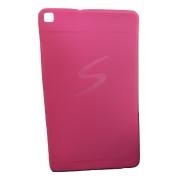 Capa Tablet Samsung Galaxy Tab A 8 T290 T295 Traseira Silicone Logo Rosa Neon