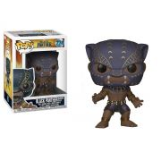 Funko Pop Pantera Negra Marvel Boneco Colecionável Black Panther Warrior Falls