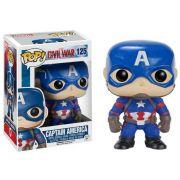 Funko Pop Capitão América 125 Avengers Boneco Colecionável