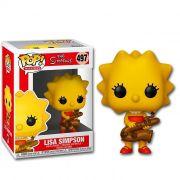 Funko Pop Lisa Simpson - Os Simpsons - Boneco Colecionável Original Funko