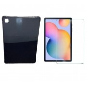Kit Capa Tablet Samsung Galaxy Tab A7 10.4 T500 T505 Traseira + Película Vidro