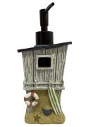 Porta Sabonete Líquido Dispenser Temático Casa de Praia Decorativo