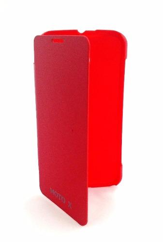 Capa Motorola Moto X 1º Geração Xt1058 Flip Cover Vermelha
