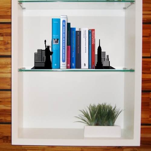 Suporte Aparador de Livros Cd Dvd Temático New York City Nova Iorque