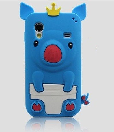Capa Samsung Galaxy Ace s5830 Silicone Porquinho Rei