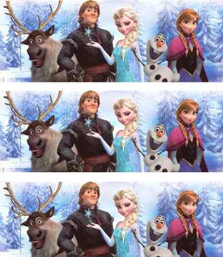 Adesivo de Parede Frozen Anna e Elsa - Faixa Auto Colável