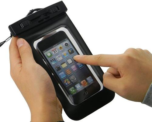 Capa Impermeável para Celular Smartphone de até 5.5'' com Trava de Segurança para Mergulho