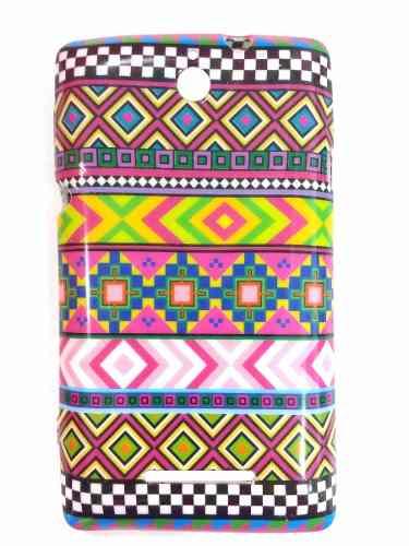 Capa Sony Xperia E Dual C1604 Flexível Étnica