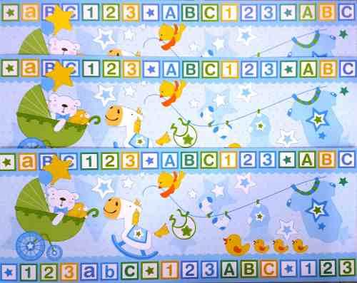 Adesivo Faixa Decorativa para Quarto de Bebê - Menino