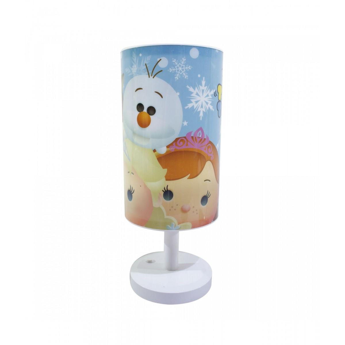 Abajur Luminária de Mesa Disney Tsum Tsum Frozen Anna, Elsa, Olaf