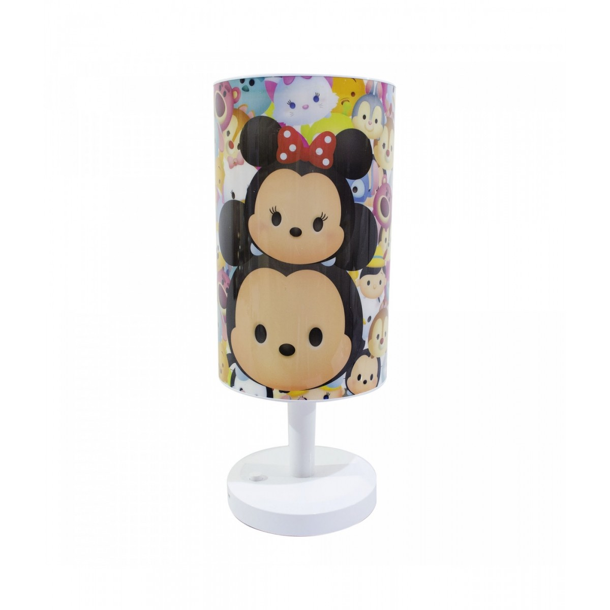 Abajur Luminária de Mesa Disney Tsum Tsum Mickey e Minnie Mouse