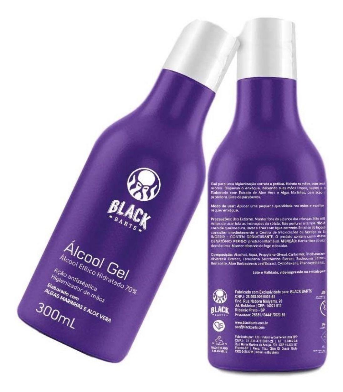 Álcool em Gel 70% Antisséptico Higienizador de Mãos c/ Algas Marinhas e Aloe Vera