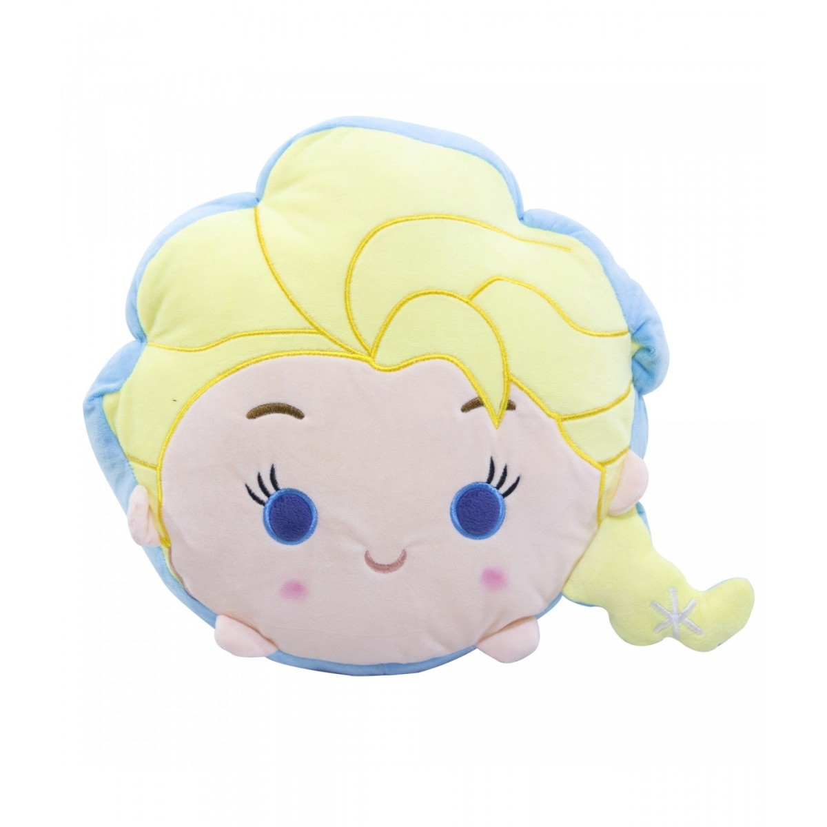 Almofada de Pelúcia Personagem Disney Frozen Rosto Elsa 41cm