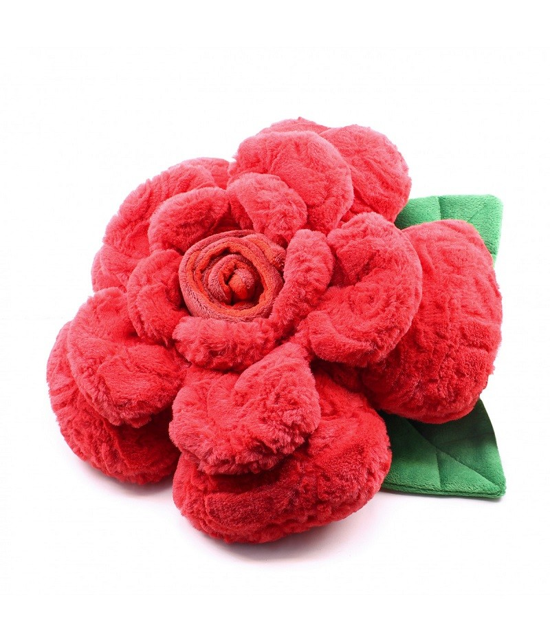 Almofada Formato Rosa de Pelúcia 35cm (fibra) - Dia dos Namorados