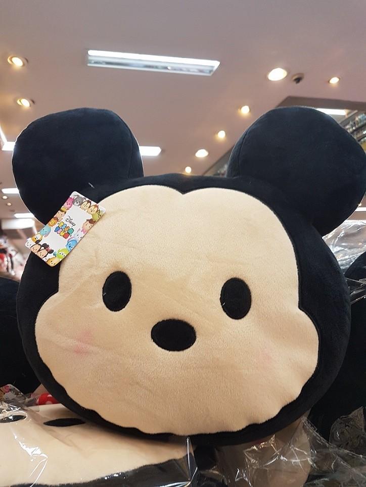 Almofada de Pelúcia Personagem Disney Rosto Mickey Mouse 37cm