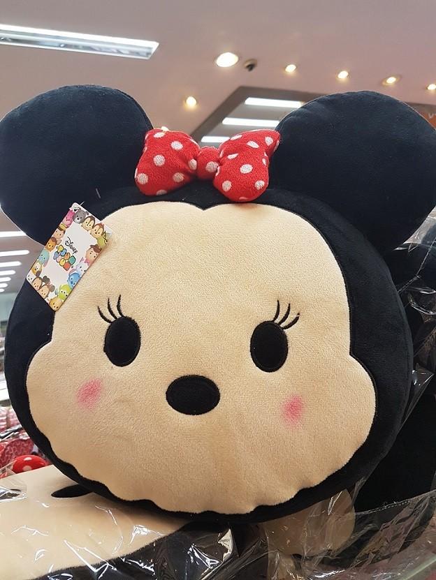Almofada de Pelúcia Personagem Disney Rosto Minnie Mouse 37cm