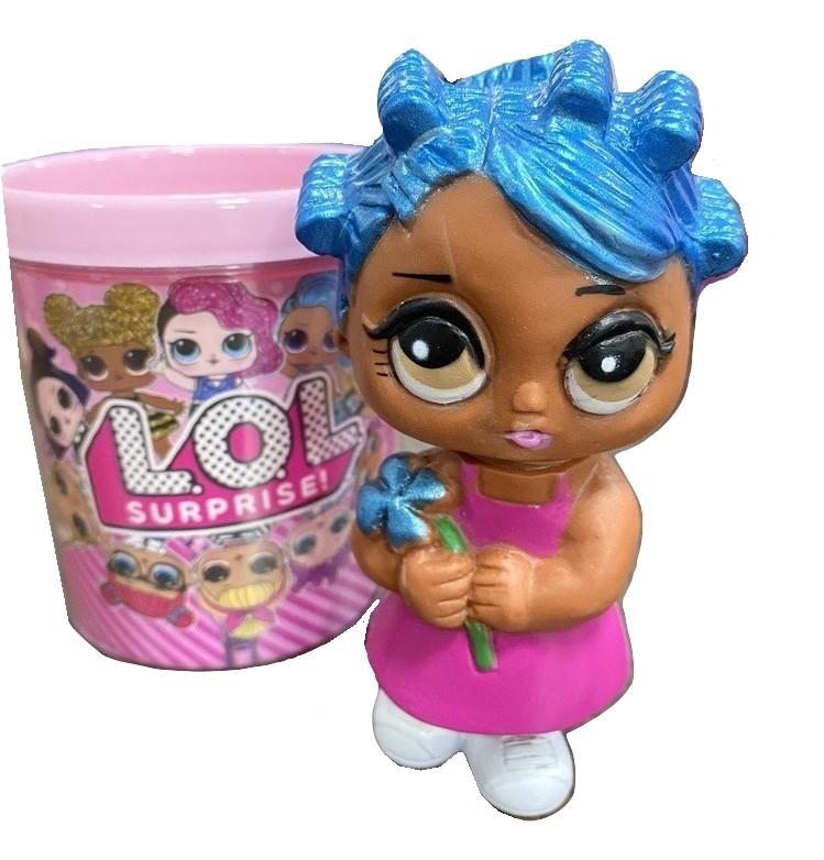 Mini Boneca Tipo Lol com Caneca Personalizada 12cm Crianças
