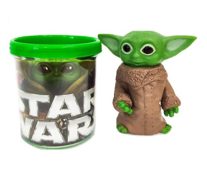 Boneco Baby Yoda Star Wars Figure + Caneca Personalizada