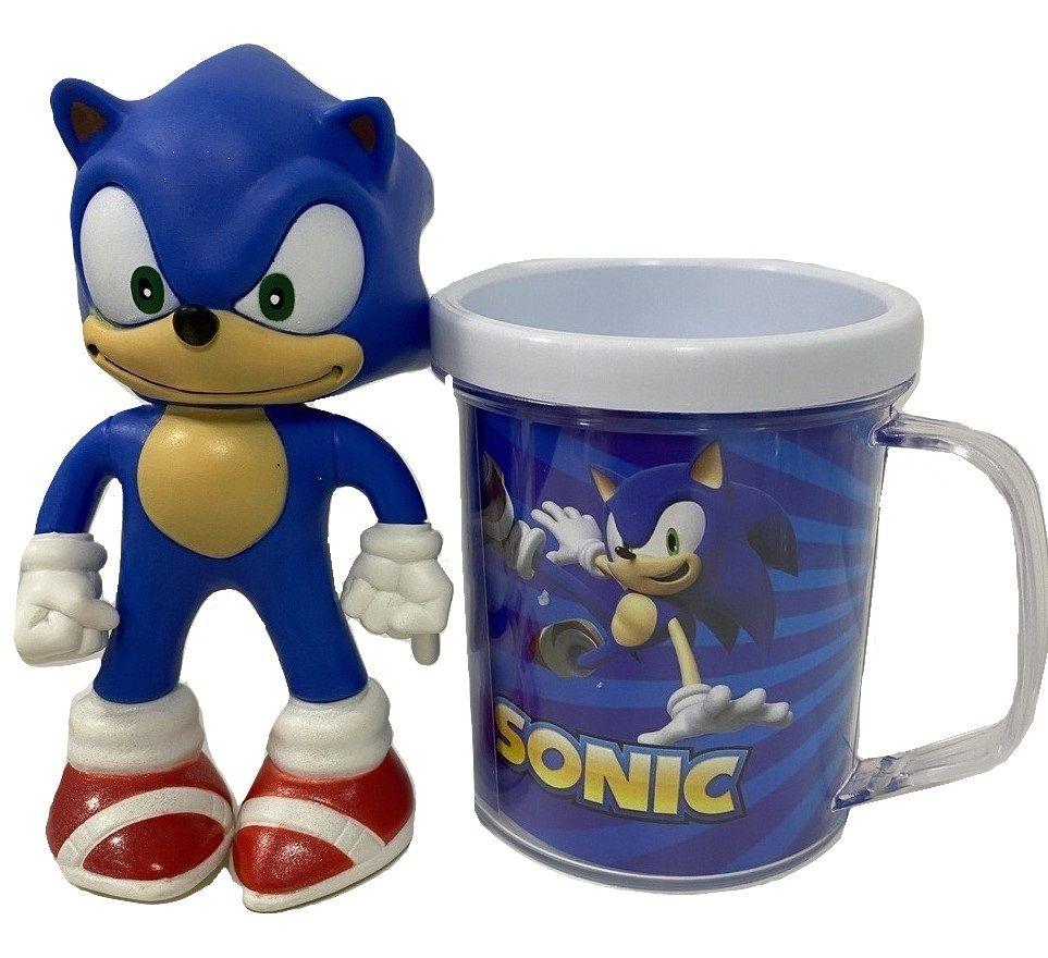 Boneco Sonic Azul Clássico Figure + Caneca Personalizada