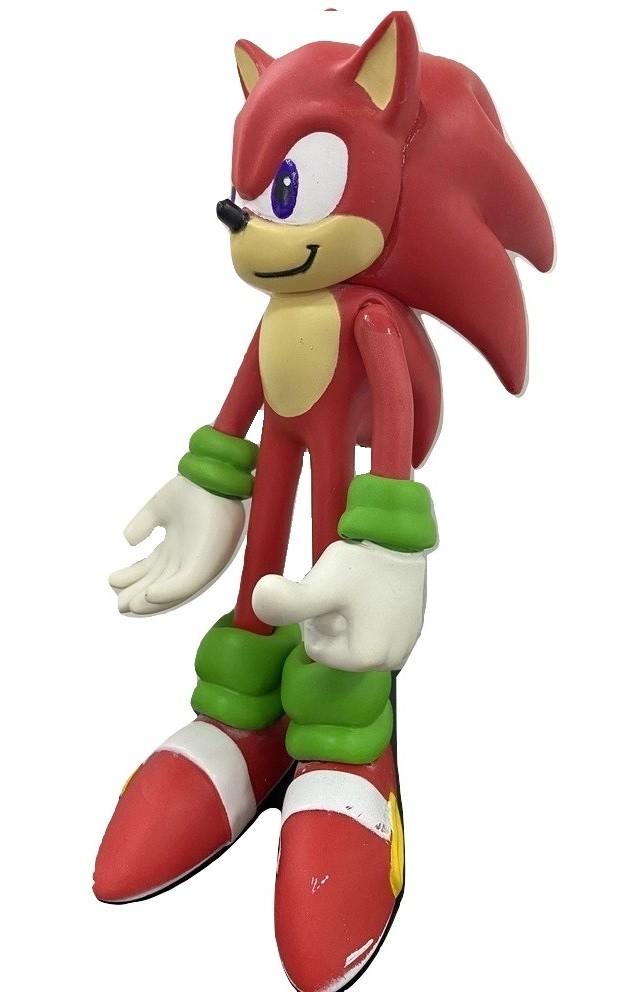 Boneco Sonic Vermelho Action Figure Articulado 26cm