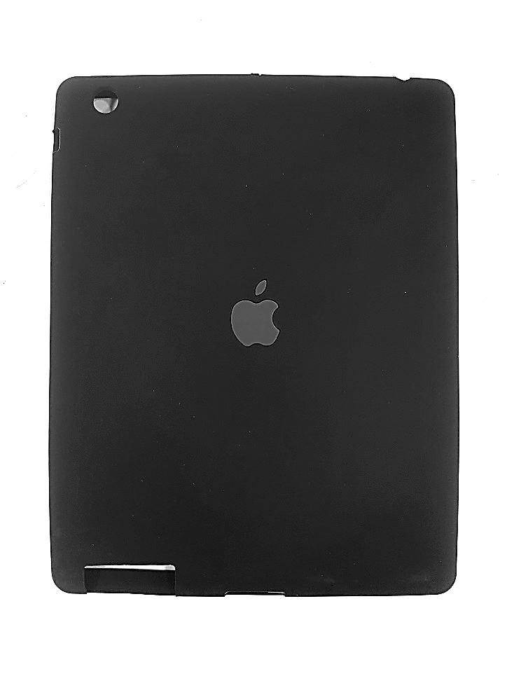 Capa Ipad 2 3 4 Apple Traseira de Silicone Preta