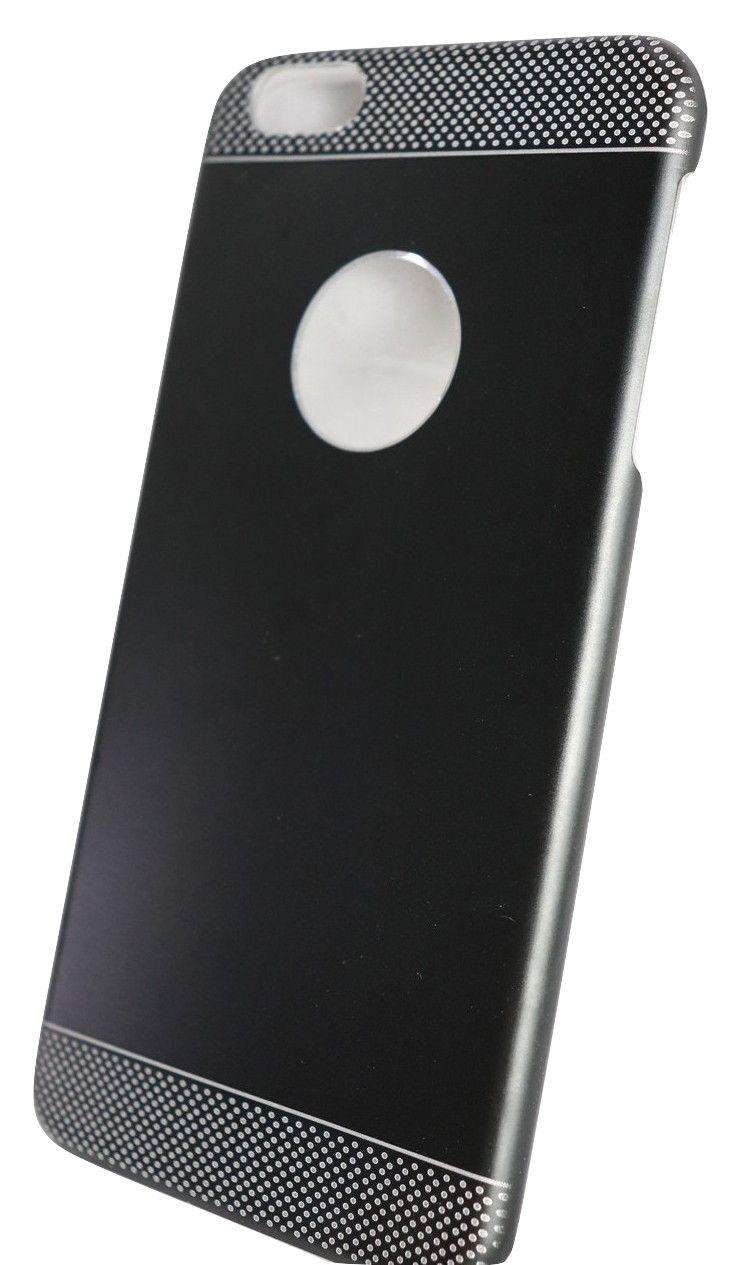 Capa Case Iphone 6 Plus Super Slim Rígida Preta c/ Cinza