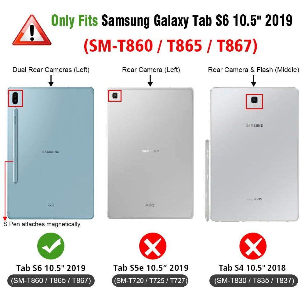 Capa Case Tablet Samsung Galaxy Tab S6 Tela 10.5 T860 T865 Giratória Executiva