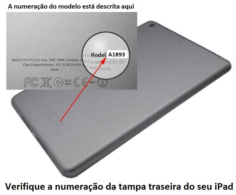 Capa de Ipad 6 Apple 2018 6º geração A1893 A1954 Magnética de Couro Sintético Roxa
