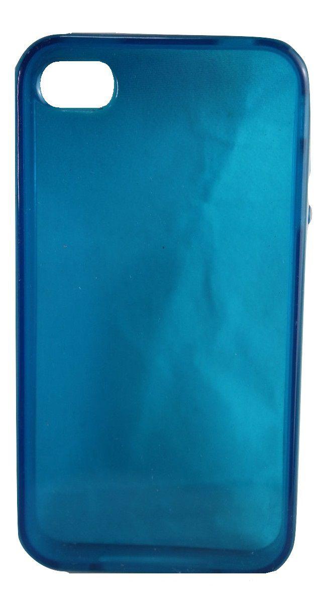Capa de Iphone 5 Apple Silicone Azul Botões em Relevo