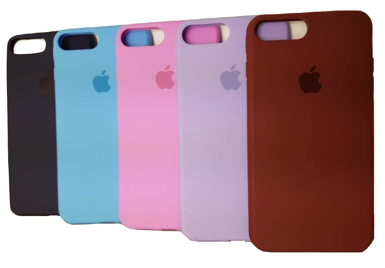 Capa de Silicone para IPhone 7/8 Plus Apple com Logo Oficial Lacrada